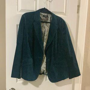 Talbots Woman Teal Blue Jacket 16W